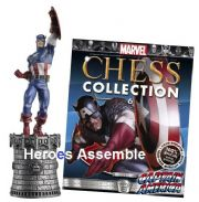 Marvel Chess Collection #06 Captain America Eaglemoss Publications